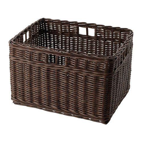 Ikea Basket dark brown 11 x15x9    102148801414