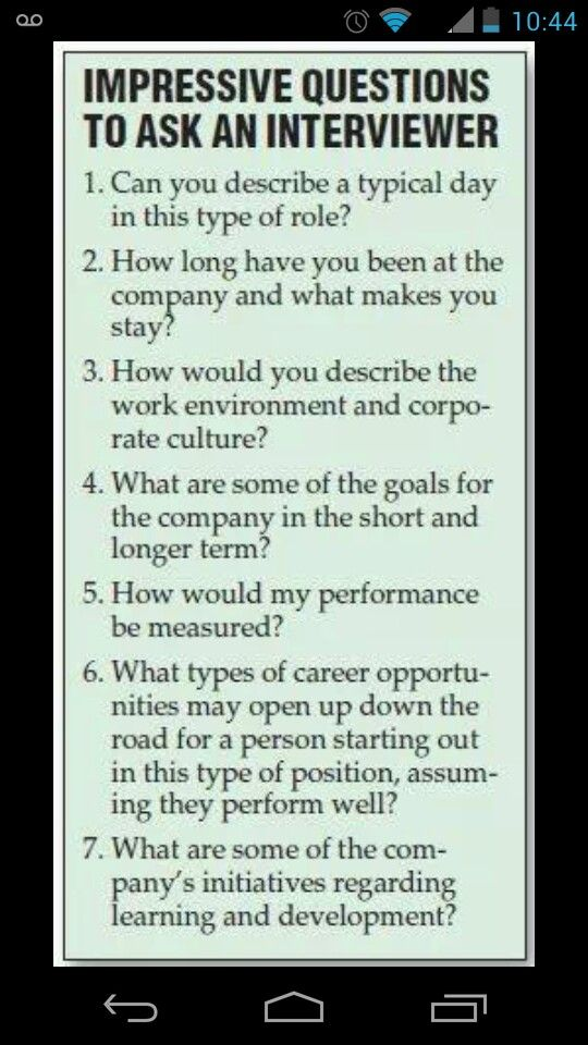 Things you need to know when interviewing or preparing to interview for a job!
