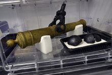 Queen Anne's Revenge Shipwreck Project | Fully conserved bronze cannon from Queen Anne's Revenge Shipwreck ...