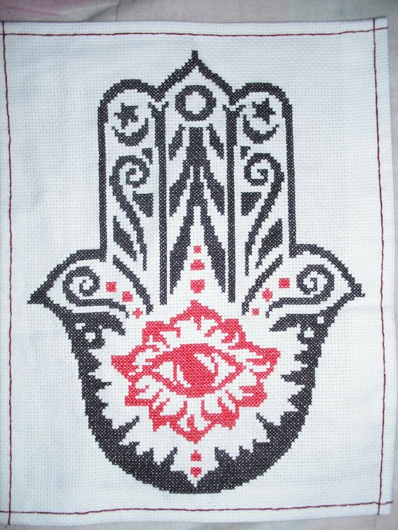 Hamsa (Hand of Fatima) Cross Stitch PATTERN