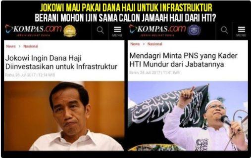 Jokowi Ingin Dana Haji untuk Infrastruktur Meme Penolakan Muncul  KIBLAT.NET Jakarta  Polemik soal dana haji yang ingin diinvestasikan pemerintah dalam pembangunan infrastruktur masih menjadi perbincangan hangat warga net.  Keinginan tersebut disampaikan Presiden Joko Widodo usai melantik Anggota Dewan Pengawas dan Anggota Badan Pelaksana Pengelola Keuangan Haji (BPKH) di Istana Negara Jakarta Rabu (26/07) lalu.  Meskipun ada yang mendukung namun tak sedikit dari warga net yang menolak…