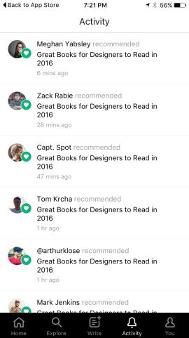 Medium — Everyone's Stories Screenshots