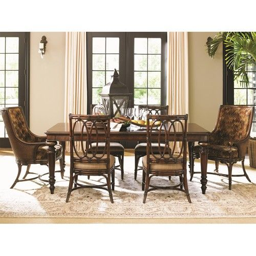 Tommy Bahama Home Landara Pelican Hill Rectangular Dining Table With Two Leaves