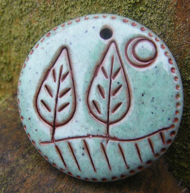 Faux Ceramic Pendant - Trees by Pips Jewellery Creation, via Flickr