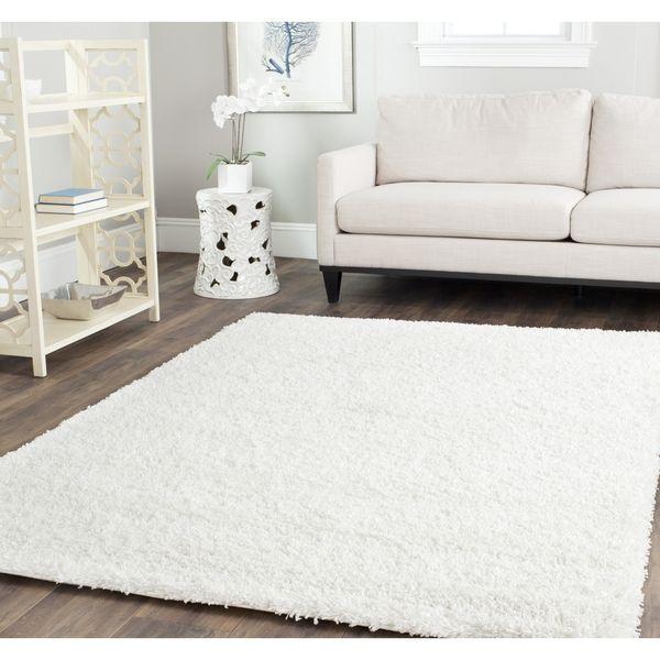 white fluffy carpet. safavieh shag white rug (4\u0027 square) - overstock™ shopping great deals fluffy carpet