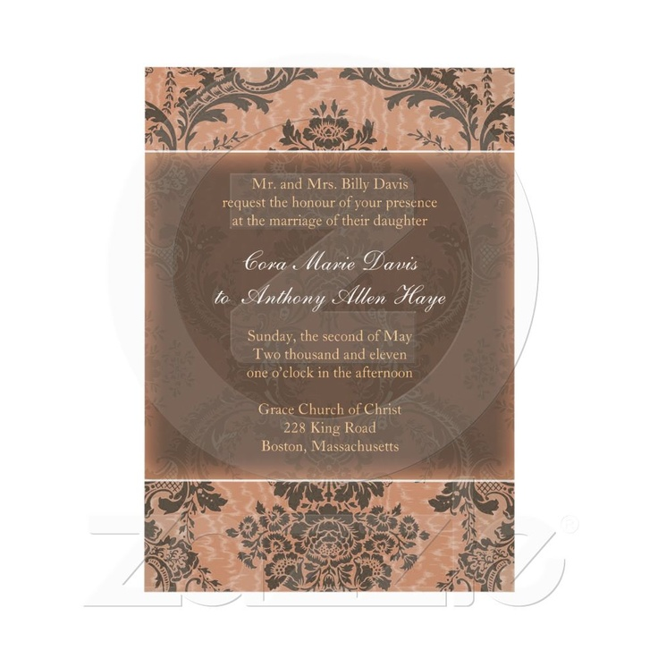 Pink Elegant Damask Wedding Invitation 105 best