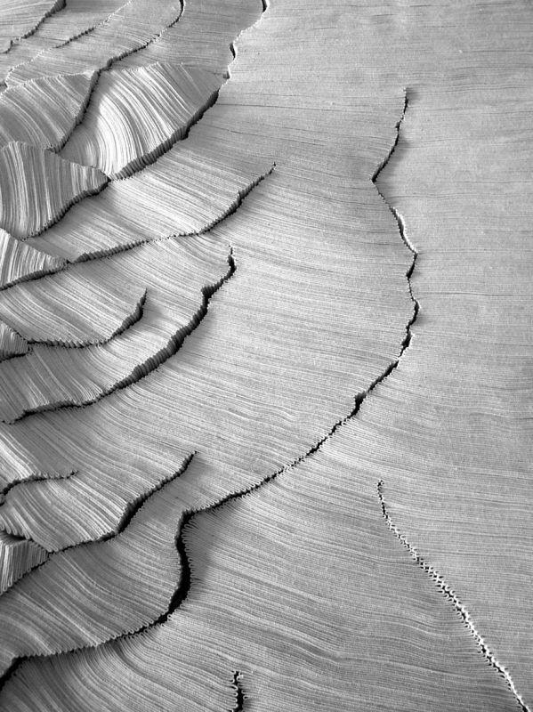 Simone Pheulpin, art textile, bande de coton des Vosges