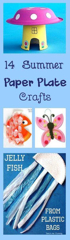 14 Summer Paper Plate Kids Crafts