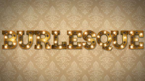 Burlesque Light Bulb Letters