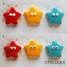 Estrellas de mar en galletas decoradas SIN GLUTEN tutorial en chicuqui.com
