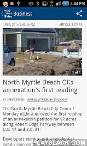 The Sun News - Myrtle Beach SC  Android App - playslack.com ,  Connect to the new Myrtle Beach Sun News Newspaper's Android app wherever you are.Receive the latest local and breaking news from Myrtle Beach, Myrtle Beach, Conway, Murrells Inlet, and the Grand Strand, in South Carolina. The Myrtle Beach Sun News and MyrtleBeachOnline.com reports on the local topics you care about including local, weather, traffic, crime, sports and national news.Features of the app include:• Breaking news…