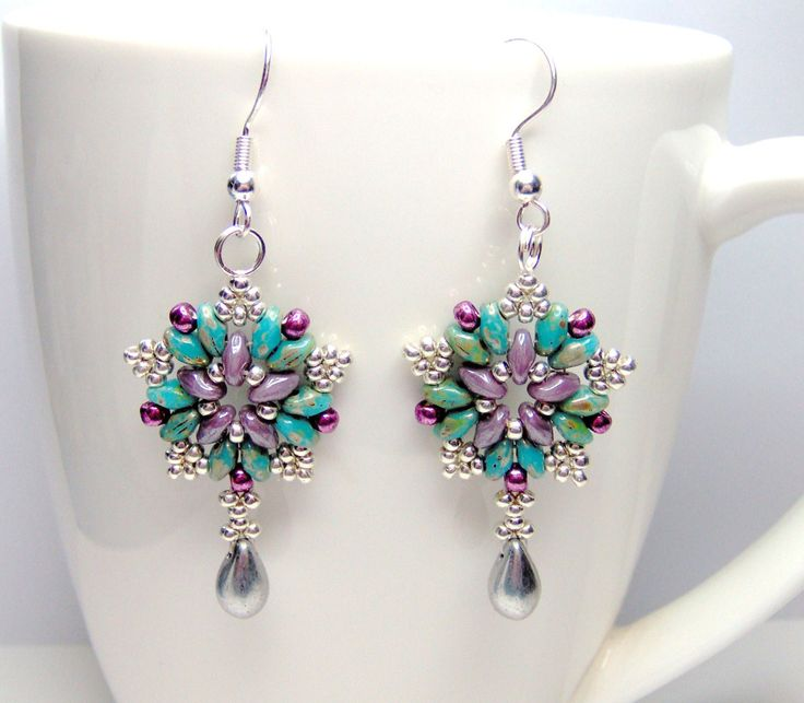 Starburst superduo star earrings superduo by BuzzybeeBeading