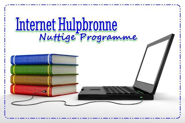 Internet Hulpbronne: Nuttige Programme