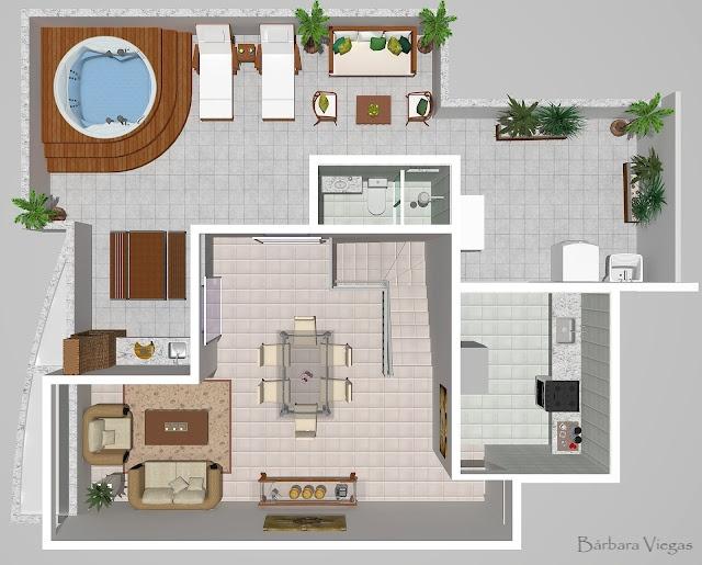 Segundo piso do apartamento de cobertura do edifício Bella Vita no bairro Jaraguá/Pampulha MG Brasil - +55 31 3309.8920 - 9217.2897 -  www.barbaradecoreventos.com