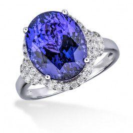 Bijuteria teilor: Inel tanzanit si diamante