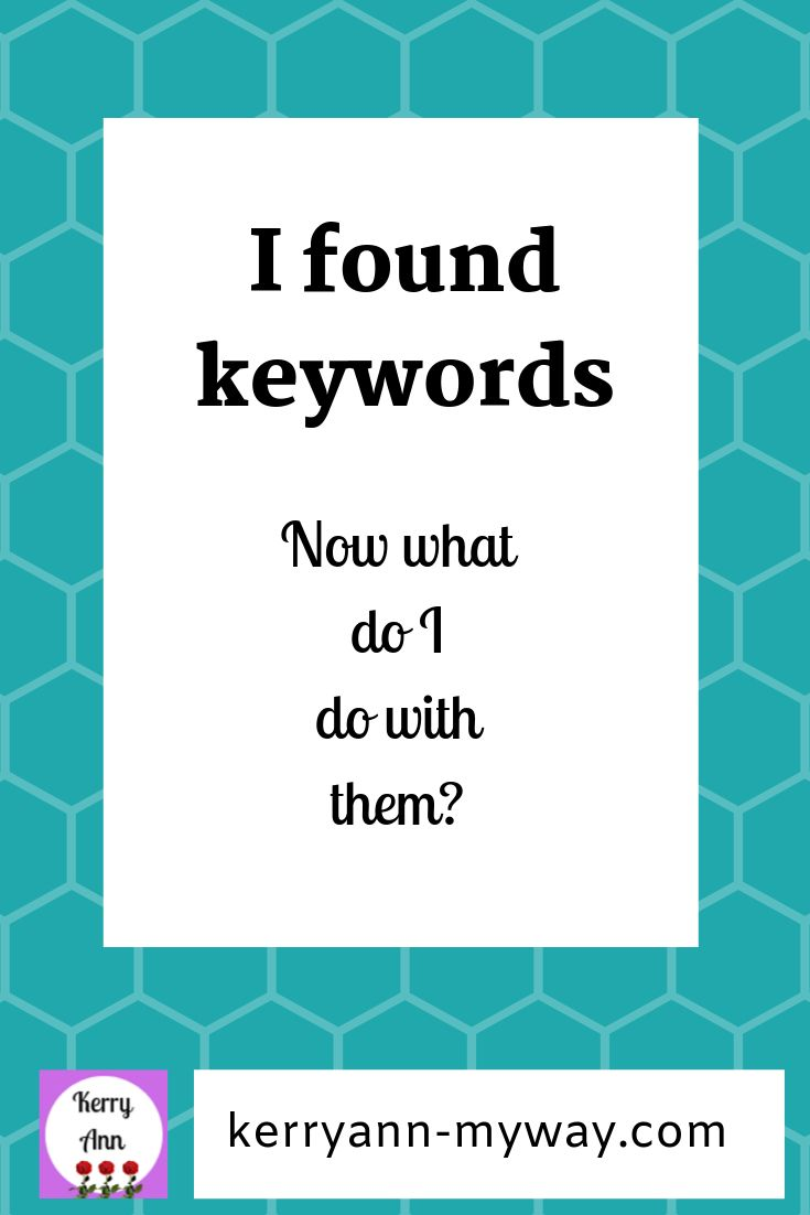 Was tun mit Stichwörtern?