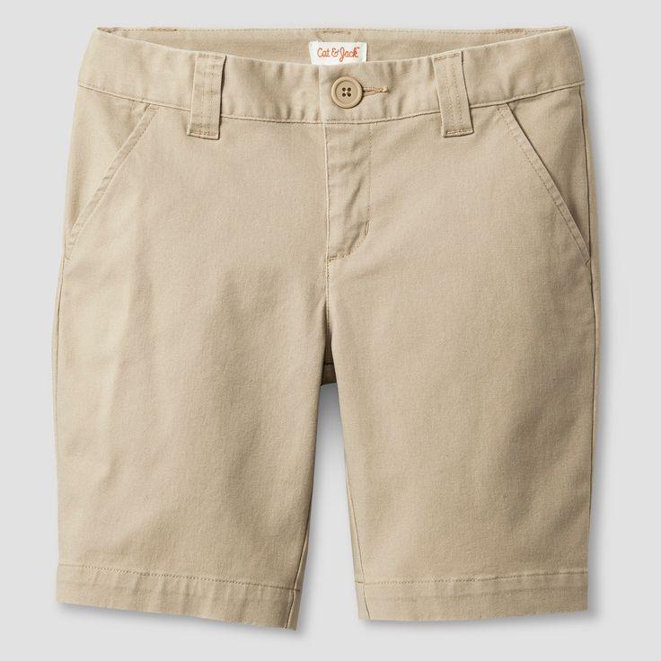 Girls' Chino Shorts - Cat & Jack Khaki XL, Brown