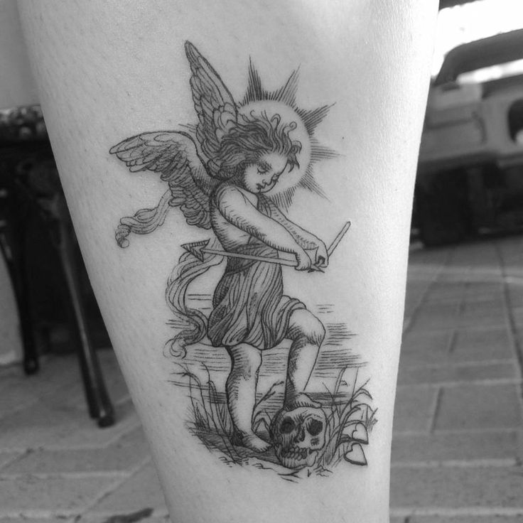 Vintage etching tattoo of Cupid by Alexandyr Valentine Tattoo Artist: Alexandyr Valentine