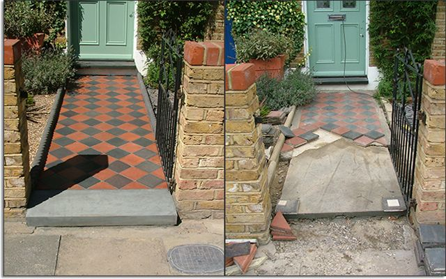 Dream - Victorian tile path to front door.