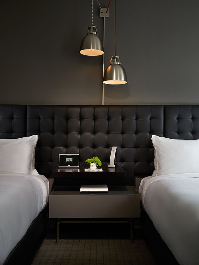 A deluxe guestroom at the hip Hotel Zetta in San Francisco