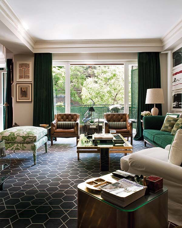 love the graphic carpet: Interior Design, Ideas, Living Rooms, Livingrooms, Interiors, Madrid, Habitually Chic, Family Room