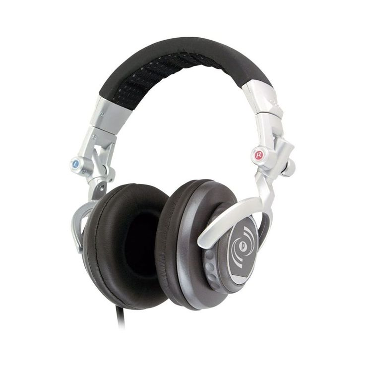 Pyle - PylePro PHPDJ1 Over-the-Ear Studio Headphones - Silver