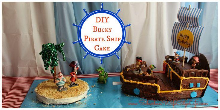Suburban Wife, City Life: DIY- Bucky Pirate Ship Cake