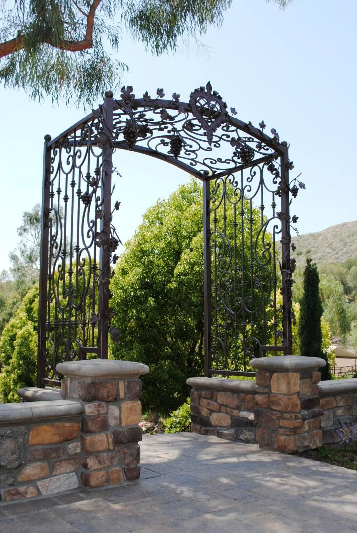Wrought Iron Arbor Home Remodeling Ideas In House