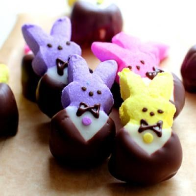 very dapperDesserts, Holiday, Parties, Food, Easter Bunnies, Tuxedos Peep, Chocolates Dips, Easter Treats, Easter Ideas
