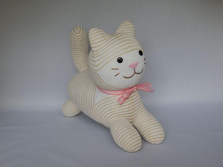 Kitty Cat Plush Toy Kitten Plushie Stuffed Animal Sock