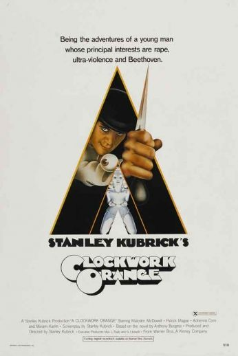 Filme: A Clockwork Orange (Laranja Mecânica, 1971) Direção: Stanley Kubrick Elenco: Malcolm McDowell, Patrick Magee, Michael Bates