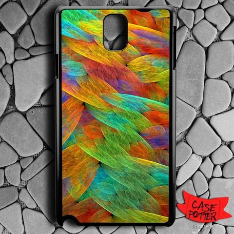 Feathers Of The Rainbow Bird Samsung Galaxy Note 3 Black Case