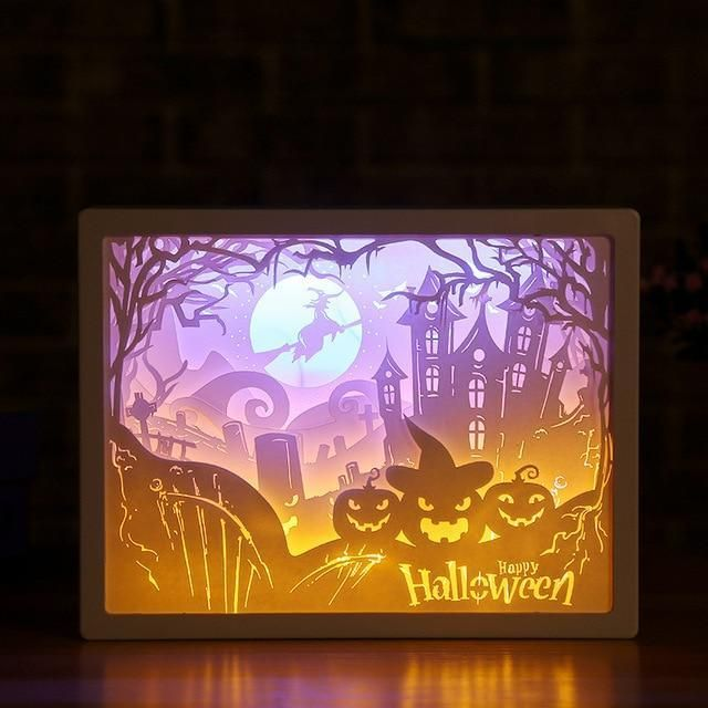 3d Light And Shadow Night Lamp Paper Carving Art Paper Carving 3d Paper Paper Tree