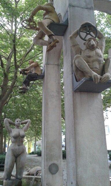 Konstanz, funny fountain.