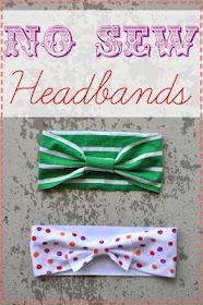 No see baby headbands - using old t-shirts