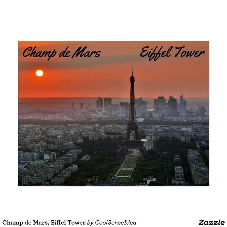 Champ de Mars, Eiffel Tower Postcard
