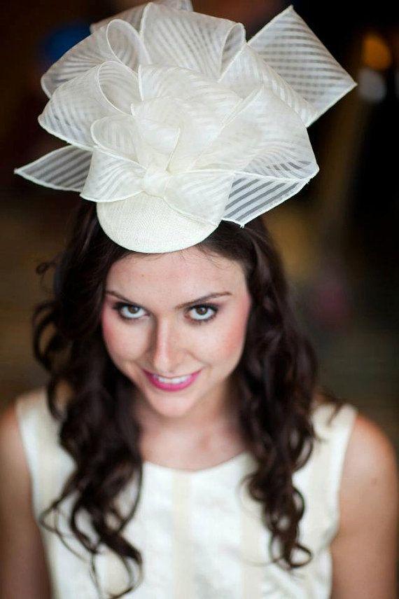 Striped silk fascinator as featured in the Etsy Weddings e-blast Please Print Pattern Perfect Trends!  https://www.etsy.com/mailinglist/email /alB2RWRXN1JPbHJmMzRNdVI1cWUwMytHRG9jbEplbFhJTkFnaHRVNUhLTT0uLjEzNjIwMDI4NzA=  #SEAMSCouture  @etsy