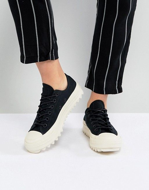 fe8fcffbcadc Converse Chuck Taylor All Star Lift Ripple Ox Sneakers In Black ...