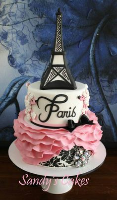 paris themed cake. Love it!!