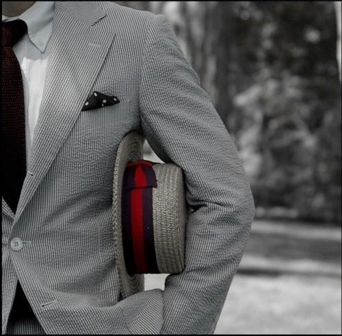 Man with class...  #men #style #suit #hat
