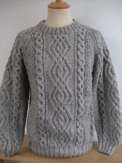 Aran Handknit in Limestone for gents or ladies at The Old Byre