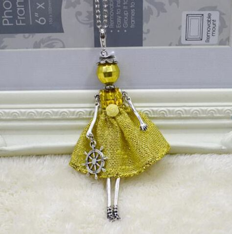 In 2015, the new fashion temperament girl female doll necklace lovely romantic ballet girls long pendant necklace
