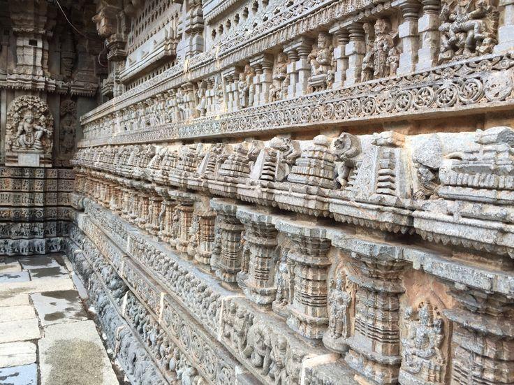What an amazing stone wall - created 700 years ago at Somanathapura