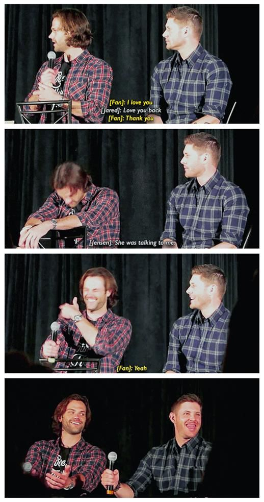 [GIFSET] Jared and Jensen being dorks #Seacon 2016 ... LOL ^_^ || Jensen Ackles || Jared Padalecki #Supernatural Convention