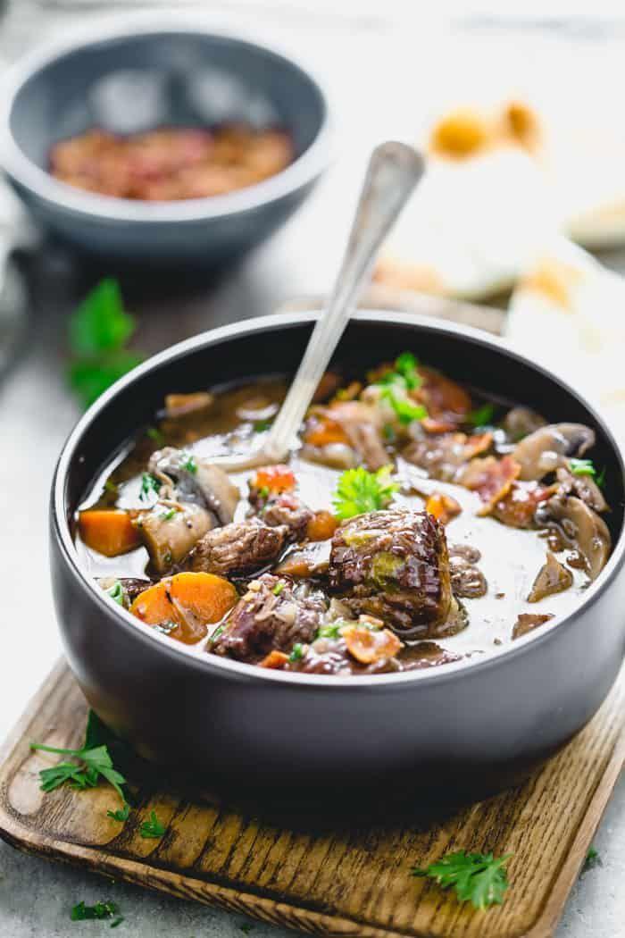 Beef Burgundy Recipe Healthy Slow Cooker Beef Burgundy Recipe Beef Bourguignon