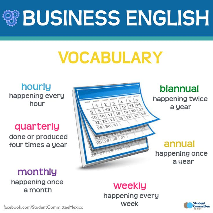 Business English - Time - Repinned by Chesapeake College Adult Ed. We offer free…