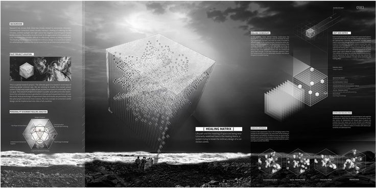 "eVolo 2016 Honorable Mention Project by: Jie Liu, Wen Sun, Hewen Suo  CANADA ""Healing Matrix"""