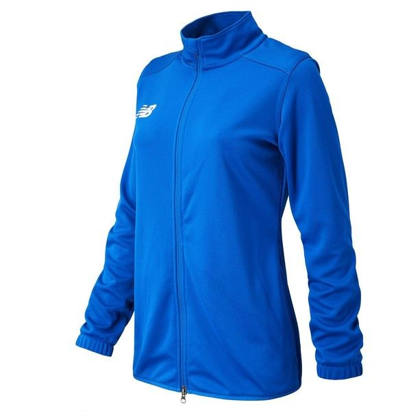 New Balance 599 Women's NB Knit Training Jacket ($70) ❤ liked on Polyvore featuring blue and new balance