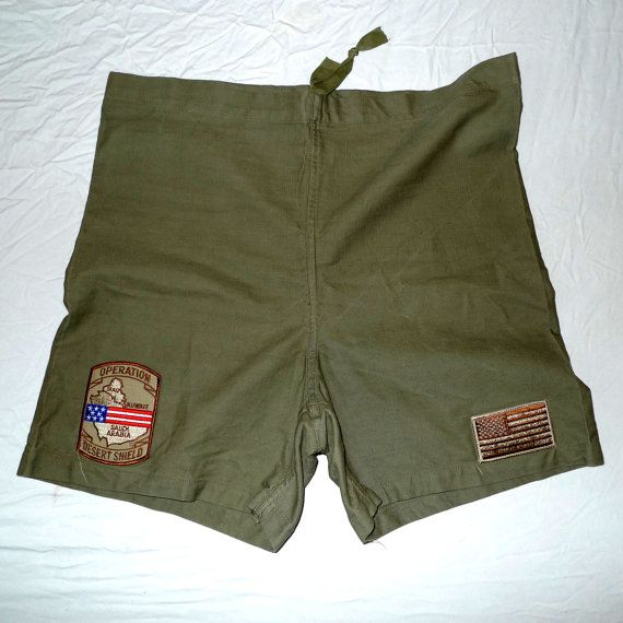 Operation Desert Shield Iraq / Saudi Arabia Military Surplus American Hot Pants / Bunk Shorts