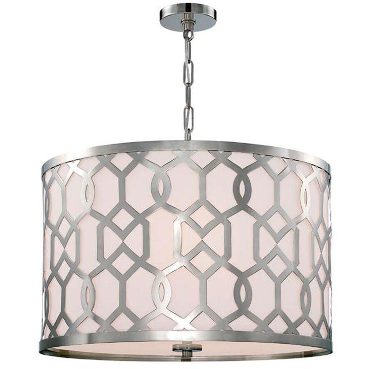 large trellis drum shade chandelier